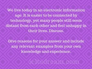 We live today in an electronic information age. It is easier to be connected