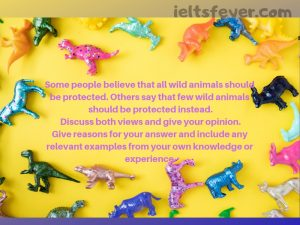 Some people believe that all wild animals should be protected