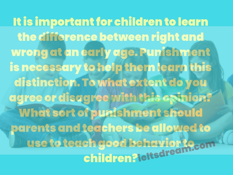 It is important for children to learn the difference between right and wrong