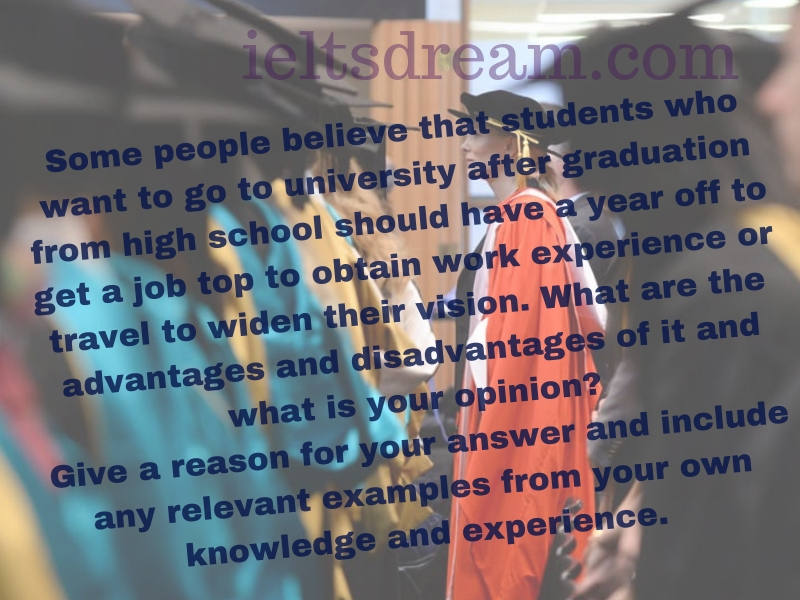 Some people believe that students who want to go to university after