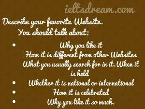 Describe your favorite Website.