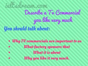 Describe a TV commercial you like very much