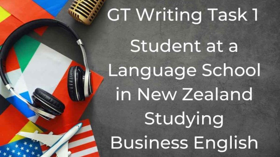 Student at a Language School in New Zealand Studying Business English