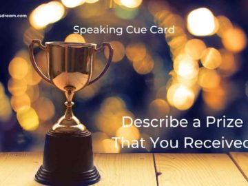 Describe a Prize That You Received