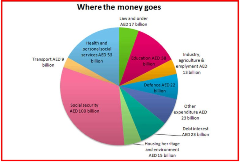The Pie Chart Gives Information on Uae Government Spending in 2000